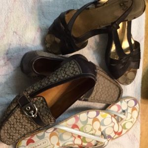 Coach shoes, 3 pairs